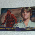 Star Wars Evolution topps 2001 Luke Skywalker Foil card